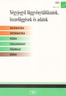 Négyjegyű függvénytáblázat fizika plusz öt témakörben